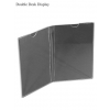 Double Desk Display 2xA4 din plexiglas transparent de birou. Cod produs: PRO20-DIPL02